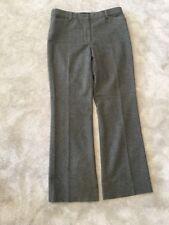 Women's Chanel Grigio Lana Pantaloni Taglia 40