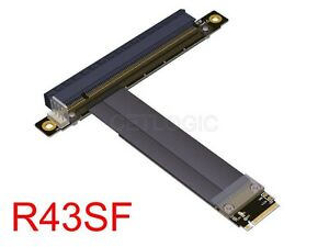 M.2 Key M to PCIe x16 Extender Cable Adapter, R43S