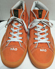 Mens NAO Orange Canvas High Top Shoes Sneaker Casual Sz 44 EU US 11