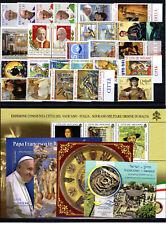 Vatikan Vaticano Jahrgang 2019 komplett mit Folder Nr.1961 (Stoffmarke) ** MNH