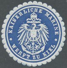 Siegelmarke - KAISERLICHE MARINE, Werft zu Kiel (#35671-1)