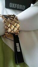 💕💕💕 New OXFORD Gold Unique BRACELET WRIST one size fits all + MIMCO Dust bag