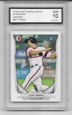 2014 Bowman # BP17 Jose Abreu Rookie Card White Sox Graded PGA 10 Gem Mint