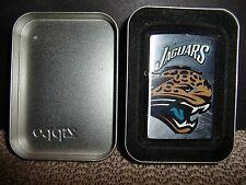 JACKSONVILLE JAGUARS NFL ZIPPO LIGHTER RETIRED DESIGN IN TIN, NFL STICKER/BACK