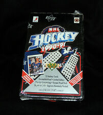 NEW SEALED 1990-91 NHL Ice Hockey Upper Deck High Series Cards Box 36 Packs