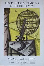 BERNARD BUFFET AFFICHE LITHO - MUSEE GALLIERA  - MOURLOT SORLIER 1969