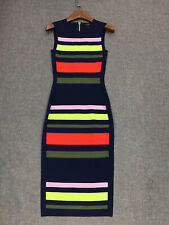 AUTH Ted Baker YSINA Stripe sleeveless knit bodycon dress, 0-5
