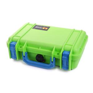 Pelican 1170 Lime Green & Blue case with foam.