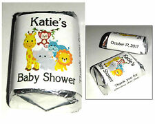 60 JUNGLE SAFARI ZOO BABY SHOWER FAVORS CANDY WRAPPERS LABELS