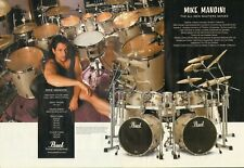 2000 2pg Print Ad of Pearl Masters Series Studio BRX Drum Kit w Mike Mangini