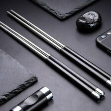 1/2/4 Pair High Grade Metal Stainless Steel Antskid Reusable Chinese Chopsticks