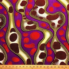 African Print Fabric 100% Cotton 44'' wide sold by the yard Stream (90108-1)