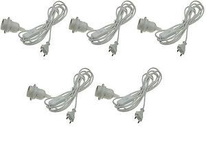 5er Set Netzkabel mit Schalter und E14 Fassung 3,4m Kabel Lampenfassung Leuchte