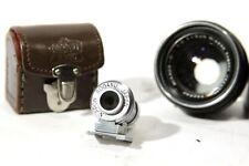 lot of 2 Nikon rangefinder items: 135mm finder and 50 f2 lens