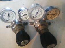 Parker Veriflo  Stainless steel Pressure Regulator Inlet dual gauge