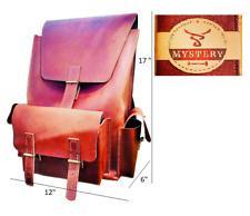 """Handmade Men's Vintage CRAZY HORSE Leather 17"""" Laptop Backpack"""
