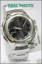 AQ-160WD-1B Black Casio Men's Analog Digital Watches Active Steel Band Brand-New