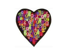 Glee ecusson brodé OFFICIEL coeur logos Neuf Glee heart logo patch