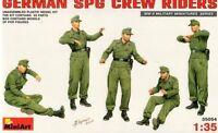 WW II GERMAN SPG CREW RIDERS (TO MARDER, ELEFANT, EMIL, ETC) 1/35 MINIART