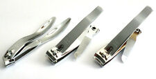 3pc Nail Clippers Cutters Set - Straight + Curved + Side Cutting Edge US SHIPPER