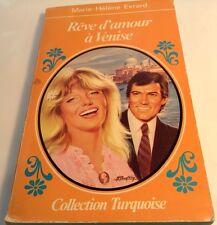 Book in French REVE D'AMOUR A VENISE Livre en Francais Collection TURQUOISE