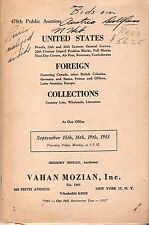 VAHAN MOZIAN AUCTION CATALOG 1955 - UNITED STATES AND FOREIGN