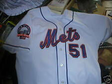 2008 Rick Peterson New York Mets game worn used jersey