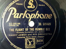 """78 rpm 10"""" HARRY JAMES the flight of the bumble bee"""