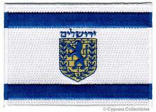 JERUSALEM FLAG PATCH ISRAEL CITY EMBROIDERED SOUVENIR israeli IRON ON applique
