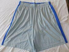 NIKE Men's 2XL XXL Gray White Blue Striped Dri-Fit Basketball Shorts NEW NWOT