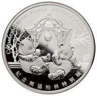 2018 China Berlin World Money Fair Show Panda 1 oz Silver Proof Medal SKU52774