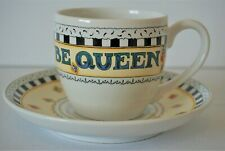 Mary Engelbreit It's Good to be Queen Teacup & Saucer Set Me Ink Andrews McMeel