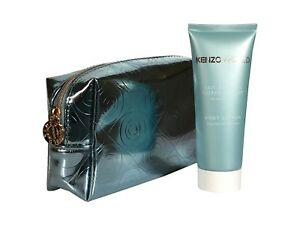 Kenzo World Perfumed body Lotion 75ml & Blue Make up Pouch Bag Women