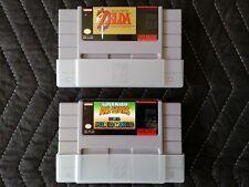 Super Nintendo (SNES) 2 Game Lot - Zelda & Super Mario All-Stars + Mario World