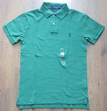 BNWT Mens Polo Ralph Lauren Pony Heather Green Slim Fit Polo Shirt Small