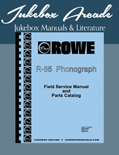 NEW! AMI / Rowe R-85 Jukebox Service Manual, Parts Lists & Troubleshooting Guide