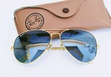 Vintage B&L Ray Ban USA Aviator Changeables Blue Self Darkening  62-14 w/ Case