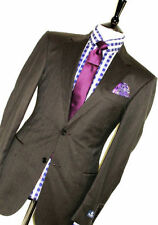 Men's Wool None Pinstripe Single Breasted Suits & Tailoring