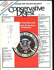 Conservative Digest Magazine May 1976 The Ford Record VG w/ML 010517jhe