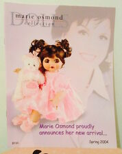 MARIE OSMOND Doll Collection Catalog Spring 2004—More Marie Catalogs Avail too!