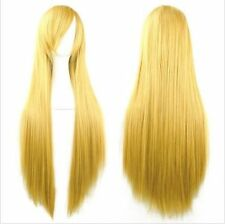 """Fashion Womens Multicolor Long Straight Wig Anime Cosplay Party Wigs 80cm/32"""" UK"""