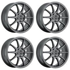 Set 4 16x7 Vision 425 Bane 5x100mm 5x4.5 +38mm Gunmetal Wheels Rims Inch 16""