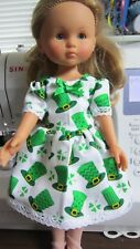 "Top Hats & Shamrocks Print Dress,  fits 13"" Corolle Les Cherie dolls"
