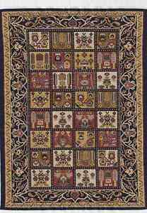 "1/12TH  DOLLS HOUSE TURKISH WOVEN CARPET 12½""(31cm) x 8""(20cm) CHEQUER/MULTI"