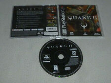 PS1 PLAYSTATION VIDEO GAME QUAKE II 2 W CASE & MANUAL COMPLETE ACTIVISION