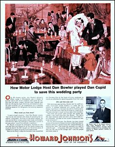 1964 Howard Johnson's motor lodge wedding party vintage art print ad adl83