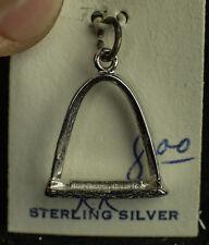 ".925 STERLING SILVER ST. LOUIS  MO GATEWAY ARCH KINNEY 3D CHARM ""TWA"""