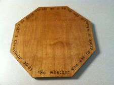 Bible verse engraved Octagon lazy susan customized however you want it