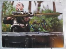 DONNIE YEN SIGNED 8x10 INCH PHOTO DC/COA (ROGUE ONE A STAR WARS STORY) PROOF (b)