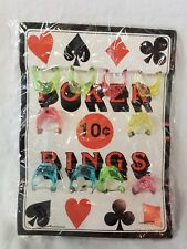 Vintage charms VENDING MACHINE display card Toy Poker Rings Hearts Spades Clubs